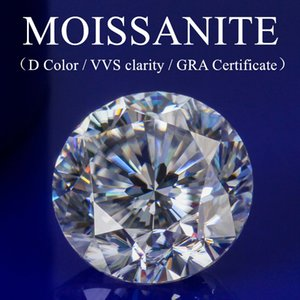 Moissanite loose stone round shape Hearts and Arrows GRA Certificate D color high quality for jewelry making