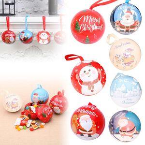 Nouveau Noël Bonbonnière mignon robuste Ornement d'arbre de Noël Pendentif Père Noël Bonhomme de neige Château Elk Noël fer Pot de rangement