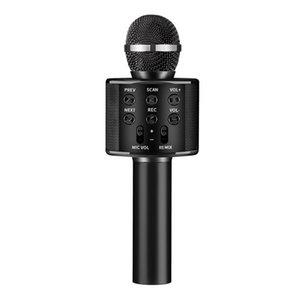 New WS858 Mikrofon drahtloses Bluetooth Karaoke WS858 Mikrofon USB KTV Spieler-Handy Spieler Mic Lautsprecher Musik aufnehmen