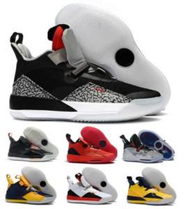 Homens 33 Sapatos de Basquete Sapatilhas Chinês Ano Novo Futuro Pacote de Tech Tech Tripler Black Jumpman 33s XXXIII SE CHAUSSE DE CESTA BOLA Sapatas