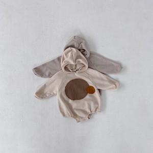 MILANCEL 2020 vêtements pour bébés capuche bébé garçon patchwork vêtements justaucorps infantile fille salopette