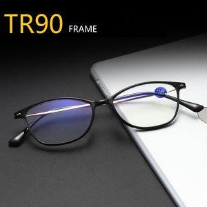 Vintage metal Reading vidrios de las mujeres presbicia Gafas Hombres Mujeres TR90 Eyewear anti rayos azules de dioptrías 1,0 1,5 2,0 2,5 3,0 3,5 4