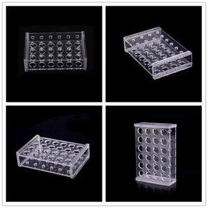 Kunststoff 24 Holes Klar Kreisel Reagenzglas 1,5 ml Test-Schläuche Zahnstangen-Halter + 10Pcs Rohrreinigungsbürsten Schule Laborgeräte