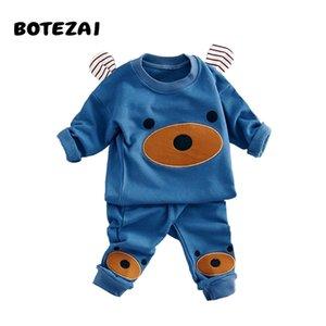 Children Clothing Autumn Winter Girls Boys Clothes Cartoon bear T shirt Pants 2pcs Kids Sport Suit Baby Boy Clothing Sets X0923