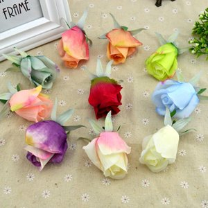 100pcs Valentine's Day romantic gifts Silk roses diy Artificial flowers cheap for home accessories decor christmas wedding fake T200911