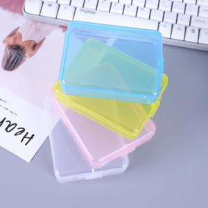 Пластиковые контейнеры для хранения Rectangle Mask Case Пусто Transparent Составляют Организаторы Пакет Портативный Mascarilla Шкатулки LX3209