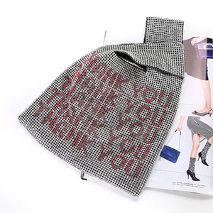 Luxus Two Sides Strass Totes Beutel für Frauen Schreiben Alugitter Kristallbling Abendtasche für Telefon Geldbörse