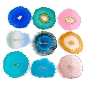 Food Bh3881 Craft Coaster Dbc Moldes Big Ágata Resina Epóxi forma de onda de jóias Diy Grade Cup Mold Bandeja Fazendo Mold Irregular Silicon KjplxA