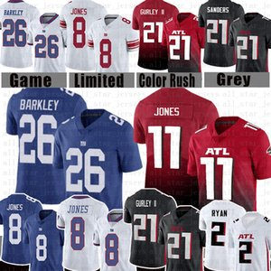 Julio Jones 26 Saquon Barkley Daniel Jones 21 Todd Gurley II Fußball-Jersey-New Atlanta