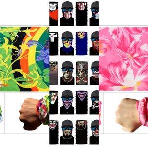 Equitation Sport magique multifonctionnel extérieur transparente vélo Foulard pour hommes et femmes Scarfs Skull Party Echarpes Masques Mode MLAT