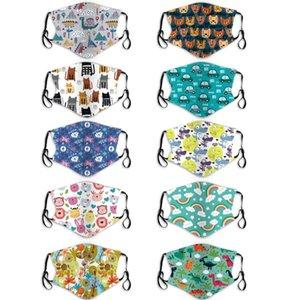 Hotsale Mädchen Jungen PM 2.5 Maske Kinder Cartoon Maske anti-fog staubdicht waschbar Ohr montiert Baby Masken mit zwei Filter Kaufen für Kinder