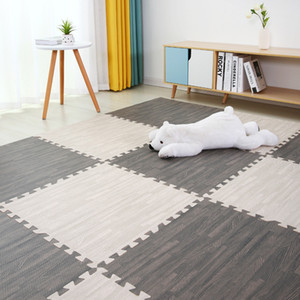 Bebé eva espuma juego gimnasio rompecabezas mat de madera entrelazado ejercicio azulejos rastreo alfombra y alfombra para niños juego actividad suave piso lj200911