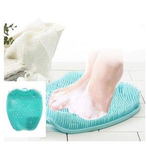 Le donne in gravidanza senza Bend Over Shower Massaggiatore plantare Scrubber Cleaner lavaggio di massaggio Strumenti Pad Mat Piedi anziani spazzola di pulizia
