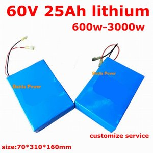 lithium battery 60v 25ah bateria li-ion 18650 2400w lipo for double skateboard electric vehicle Electric Scooter + charger
