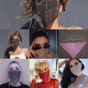 f87Qo Strass Tragen Sie die Maske Reinigungsbürste Moisturizing Halloween Schlaf Mud Creme Pflege weiche kosmetische Gesichts-Silikon-Werkzeug für Dame Girl
