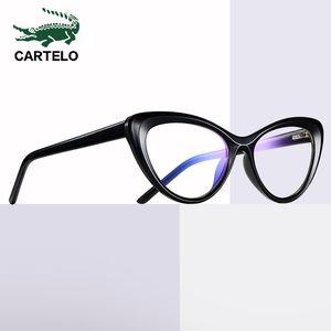 Anti Blue Femmes Cartelo Eyewear Blue Lunettes Anti Spectacles Men Gaming Gaming Ordinateur Verres pour lunettes Lumière Lunettes Xiovb