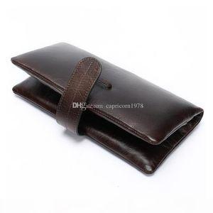 Mens Genuine Leather Wallet Womens Cowhide Wallet Mens Designer Card Holder High Capacity Casual Fashion Anti Theft Brush Business Handbag