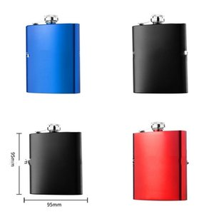 6oz Wine Hip Flask Stainless Steel Pot Cup Matte Black Paint Outdoor Party Home Bottle Mug Portable Flagon Drinking Supplies 7 5at B2