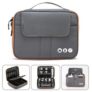 Acoki High Grade Nylon 2 Layers Travel Electronic Accessories Organizer Bag,Travel Gadget Carry Bag, Perfect Size Fit for i Pad