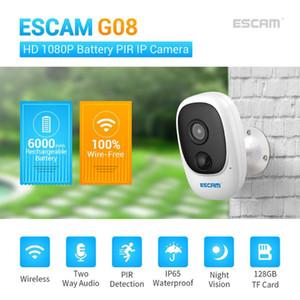 ESCAM G08 2MP 충전식 배터리는 1080P HD 야외 무선 보안 와이파이 카메라를 충전 IP 카메라 태양 에너지를 전원