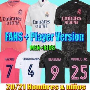 VINICIUS Sergio Ramos Modric Balya 20 21 Futbol futbol forması erkekler çocuklar kiti üniforma isco 2021 Real Madrid'in formaları Fanlar Oyuncu BENZEMA tehlike