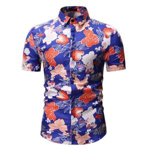 New Summer Beach Hawaiian Floral Shirt Short Sleeve Printing Plus Size Men Shirts Casual Holiday Vacation Mens Clothing Camisas