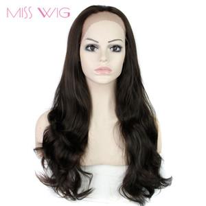 MISS WIG dentelle perruque frontale perruques synthétiques longues Wavy perruques pour les femmes noires résistant à la chaleur