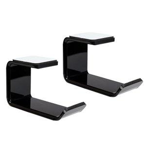 2 Pcs Universal Headphone Stand Hanger Holder Headset Under Desk Hook Mount