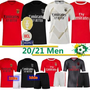 Benfica Football Maillots 21 PIZZI 10 JONAS 11 gabrielb 14 Camiseta SEFEROVIC Zivkovic SALVIO ELISEU Fejsa MEN KID Football Maillots 2020 2021