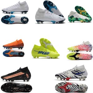 Mens Mercurial Superfly 7 Elite NJR FG soccer cleats scarpe calcio Original High Ankle 360 Elite football soccer shoes boots crampons