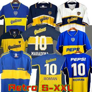 97 98 Boca Juniors Retro Futbol Jersey Maradona Roma Caniggia 99 00 2002 Palermo Futbol Gömlek Maillot Camiseta de Futbol 2005 2001 1981
