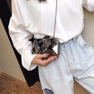 Shoulder Ladies Trendy Women Metal Irregular Messenger Bag For Girls Bags 2020 Chain Mini Crossbody For Fashion Hand Bags K503 Srebx