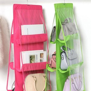 Bag Six-layer Non-woven Handbag Bag Closet Organizer Nrldv F1W8 Wardrobe Double-sided For Storage Hanging Hanging Waior