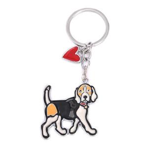 Fashion Basset Hound Keychain Dog Keychains For Women Bag Charm Trinket Men Car Key Ring Key Chain Jewelry Gift Animal Charm