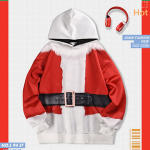 2020 Christmas Hoodies Men Autumn Winter Long Sleeve Drawstring Hoodies Pullover Sweatshirt Hooded Coat Casual Christmas Clothes