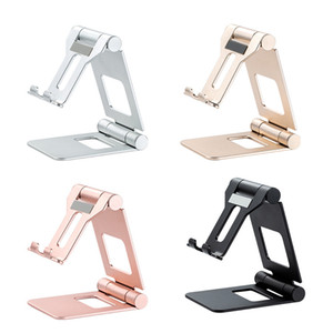 Mobile Phone Holders Aluminum Alloy Mobile Phone Tablet Bracket Double Folding Mobile Phone Bracket For Aall Tablet PC