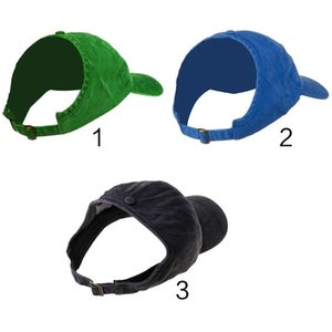 Womens Adult Half Empty Top Backless Baseball Hat Solid Color Adjustable Breathable Messy High Bun Sport Trucker Cap
