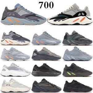 Adidas kanye west 700 V2  laranja osso corredores de ondas pura simulação cinza azul carbono Tael tênis de corrida das mulheres dos homens e tênis