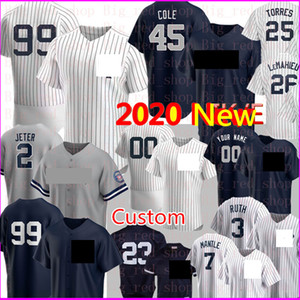 2020 New 99 Aaron Judge Derek Jeter 45 Gerrit Cole Jersey Custom 3 Babe Ruth 42 Rivera Gleyber Torres Mantle 27 Stanton 24 Sanchez Baseball
