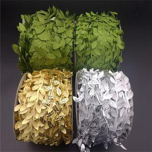 5 Meter Golden Green Artificial Leaf party home decor wedding Christmas decoration Artificial flower Handmade Scrapbooking 52099