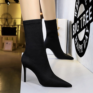 Size 34-40 New Shoes Women Boots Black Over The Knee Sexy Female Autumn Winter Lady Thigh High Thigh High Red Boots