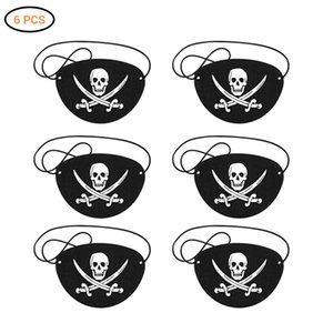 6Pcs Patches Cool Adult Skull Pirate Eye Patch Mask For Halloween Christmas Party Kids Children Toy Gifts
