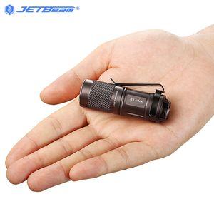Büküm Kafa Anahtarı ile Jetbeam JET-II CR123A 16340 pil Mini High Power LED Su geçirmez meşale