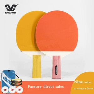 CROSSWAY 2Pcs Upgraded 2 Star Carbon Table Tennis Racket Set Lightweight Powerful Ping Pong Paddle Bat with Good Control