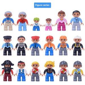 Gebäude Aktion Big Size für Familie Polizeiangestellter Spielzeug-Kind-Geschenk 6pcs-Block Duplos Abbildung Große Kinder Bricks Blocks Kompatible bbyDXO