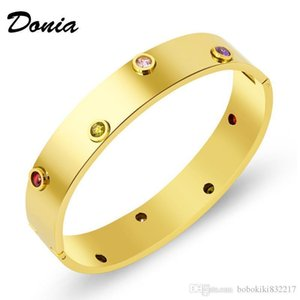 Donia jewelry party exaggeration rose gold jewelry bracelet micro inlaid zircon leopard Adjustable Bracelet color Zircon Bracelet Gift