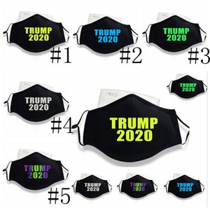 Adult Trump Masks Luminous Trump Mask Trumps US Election Supplies Mouth Cover Dust-proof Washable Trump Face Masks With 1 Filter GWD1890