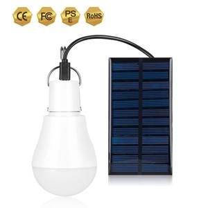 Solar Powered Lamp 5W Portable LED Bulb Lights Solar Energy Panel Led Lighting for Camp Tent Night Fishing Emergency Lights Flash 130LM