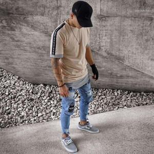 Motorista rasgado resorte del nuevo del diseñador adelgazan los pantalones de Jean Pantalones para hombre otoño 19SS Jeans