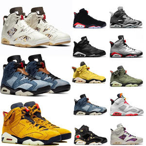 Retro 6 Jumpman 6 6s fumo grigio Hare Travis Scotts rasoGiordaniaRetro Mens Basketball Shoes atletica allenatori sportivi Sneakers